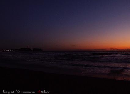 夕方の湘南の風景