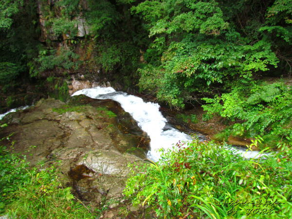 3594御洞の滝上部140906