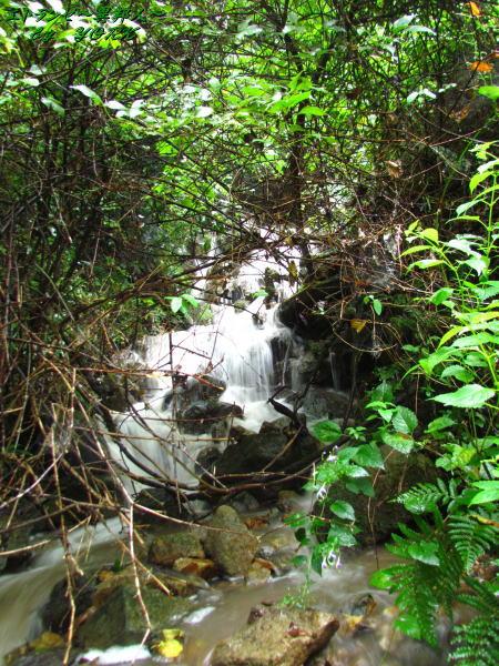 3609雨後にできるミニ滝 小阪部川ダム湖140906