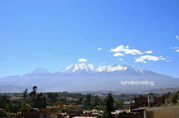 view from guesthouse Arequipa