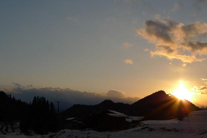 飛騨の夕陽 高山市 1