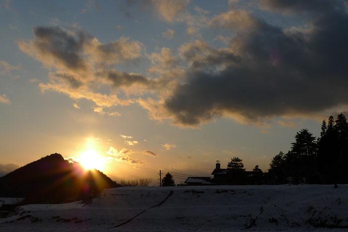飛騨の夕陽 高山市 2