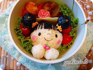 サクランボを食べるあーちゃん☆のお弁当♪