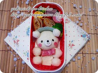 パンde全身くまちゃん☆のお弁当♪