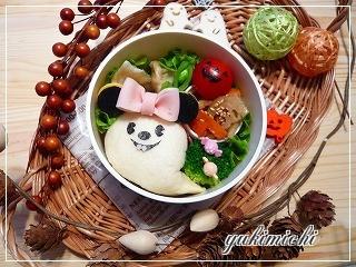ハロウィン☆おばけミニーちゃんのお弁当♪
