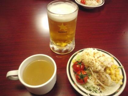 111204_ビール&サラダ
