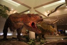 実物大の恐竜