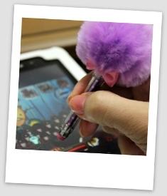 ファーつきタッチペン (3)