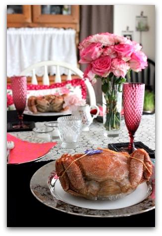 毛蟹とテーブル