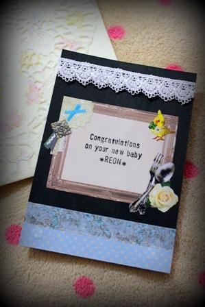 誕生お祝いカード
