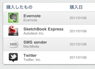 2011/01/06kounyuuhinnMac App Store