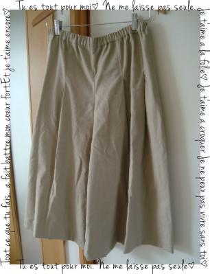 簡単スッキリギャザースカート