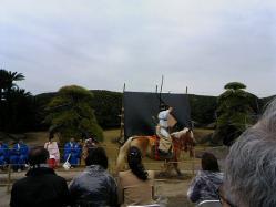仙巌園-流鏑馬やぶさめ2