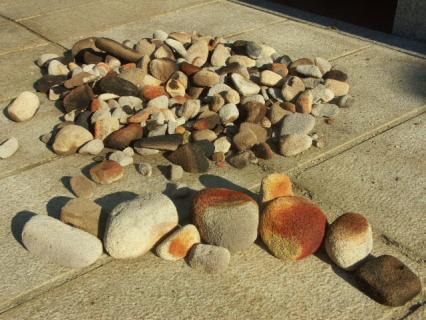 気泡煉瓦の丸い石3