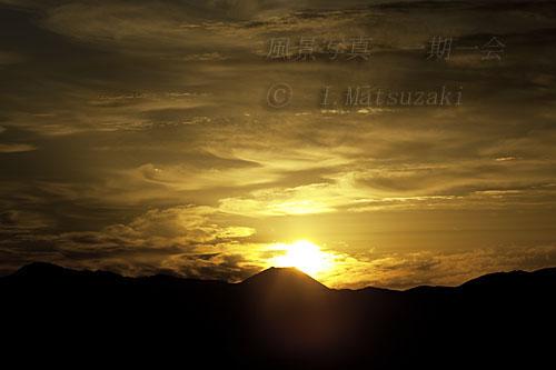 富士山頂から日の出