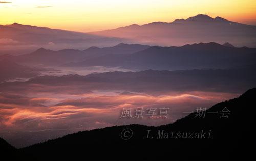 雲海に朝日