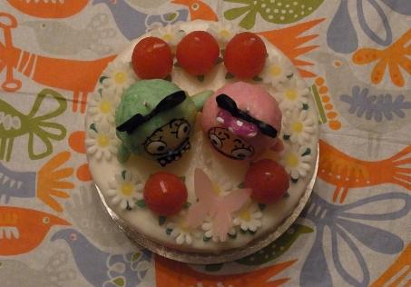 ろうそくケーキ1