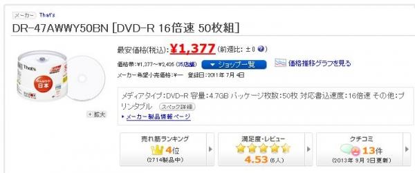 DR-47AWWY50BN最安値