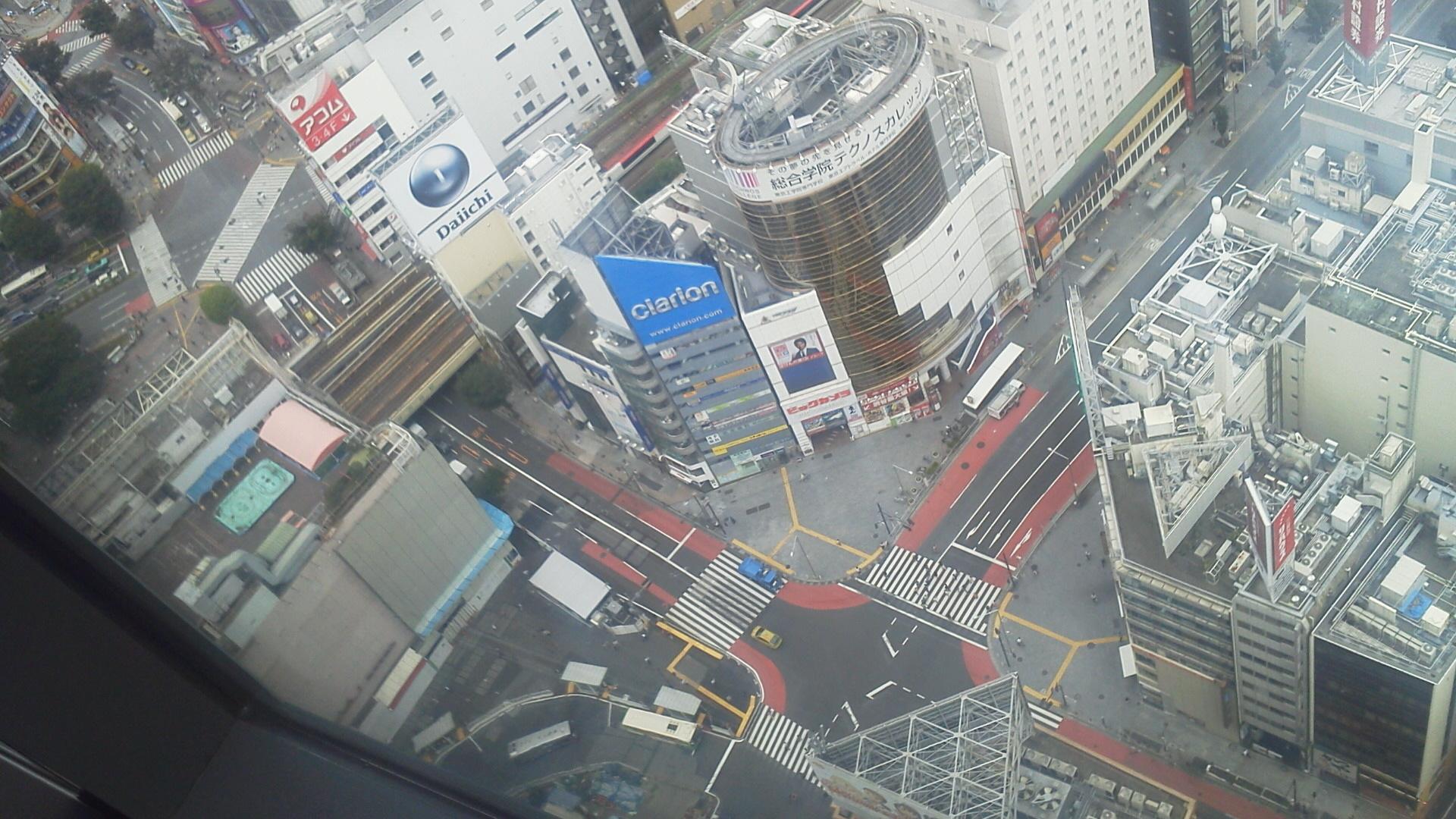 渋谷ヒカリエ31Fより2