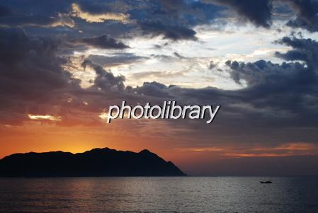 840007 朝焼けの海