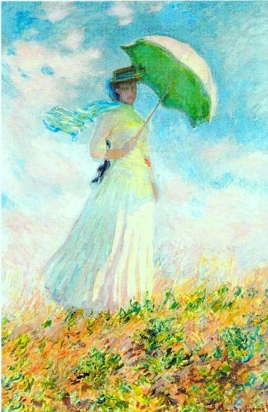 日傘を差す女