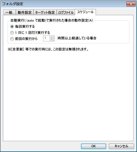 DiskMirroringTool Unicode - フォルダ設定 -スケジュールタブ