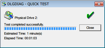 Seagate HDD ST2000DM001(Certified Repaired HDD) Data Lifeguard Diagnostic QUICK TEST PASS