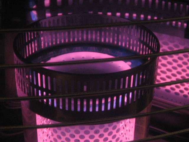 TOYOTOMI トヨトミ 石油ストーブ RS-S23C(B) 燃焼筒上部の炎 最大正常燃焼