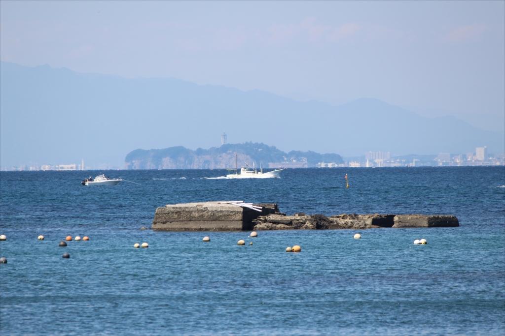 江ノ島がだいぶ遠くのような感じに見える_2
