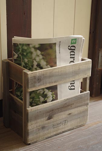 アンティーク風に仕上げた木製キャリーボックス