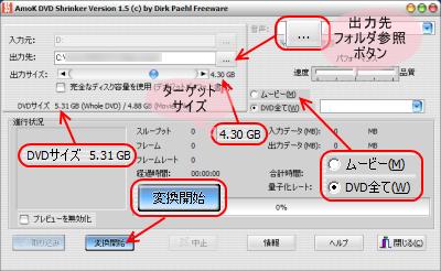 AmoK DVD Shrinker DVD圧縮(Shrink)コーピー