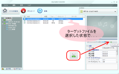 Any Audio Converter トリミング