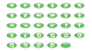 ホームページ無料素材 【矢印ボタン タイプ:5F】