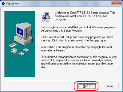 Core FTP インストール