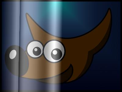 Gimpグラデーション不透明マスクサンプル