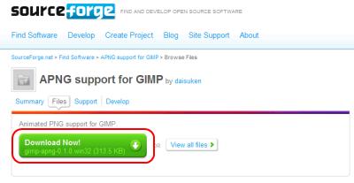 APNG support プラグイン