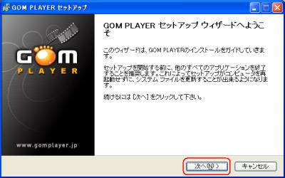Gom Playerセットアップ