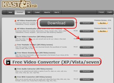 Kastor Free Video Converter ダウンロード