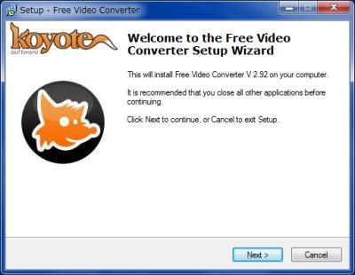 Free Video Converter インストール