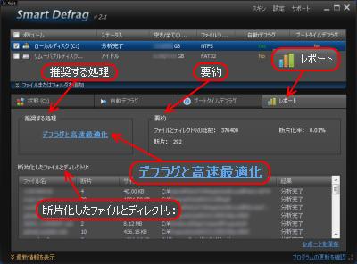 Smart Defrag 2 分析レポート