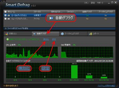 Smart Defrag 2 自動デフラグ
