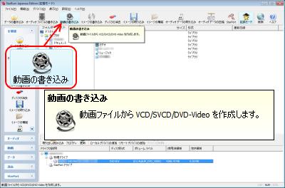 ビデオ DVD、VCD、SVCD の作成