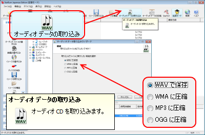 オーディオデータの取り込み(リッピング)