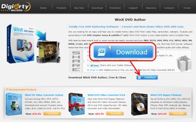 WinX DVD Author ダウンロードページ