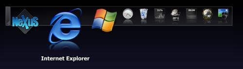 Winstep Nexus Dockテーマ Windows 7 Xtreme