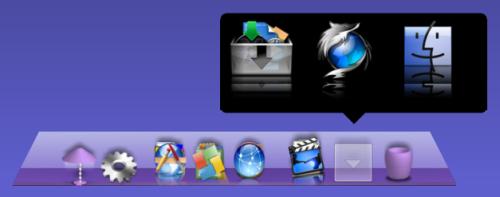 XWindowsDock5.6 Galleryを追加し起動した状態