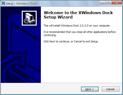 XWindows Dock 2.0.3 インストール