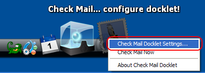 Check Mail Dockletの設定