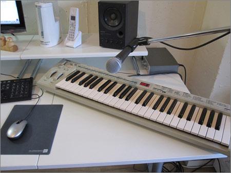 鍵盤とマイク