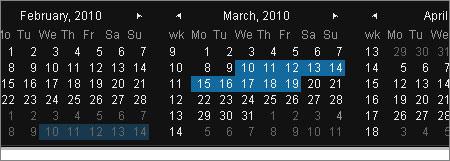 カレンダーフォーム